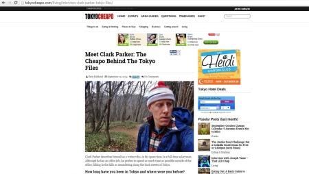Clark Parker Tokyo Cheapo Interview