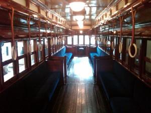 Interior of Electric Tobu Railway Trolley (1924)