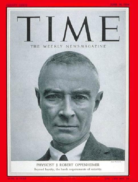 robert oppenheimer time magazine cover