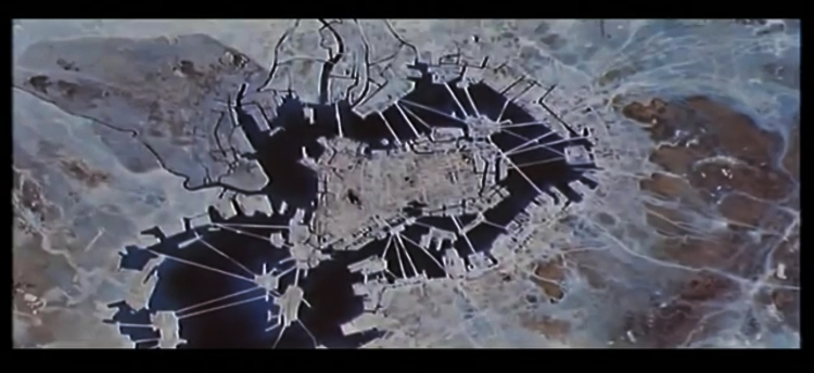 Akira opening scene New Tokyo map bay