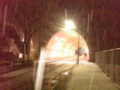 Tokyo snow tunnel night 1