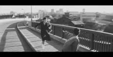 Cupola City - children run across bridge railroad