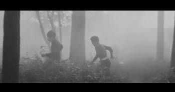 Cupola City - children run fog woods forest
