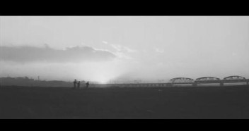 Cupola City - sunset Arakawa railroad bridge field children
