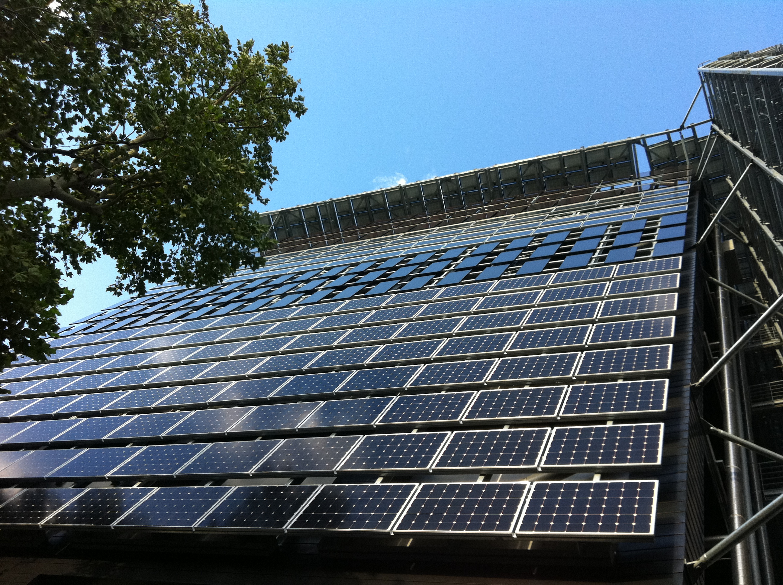 Solar Panel On Side Of Building : Environmental energy innovation building tokyo institute