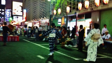 Hot night in Shimbashi 1 dancers