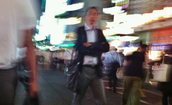 Hot night in Shimbashi 1 stern man