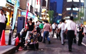 Hot night in Shimbashi 1 stroller