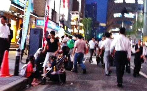 Hot night in Shimbashi 1 stroller