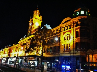 1 Flinders Street Station at night
