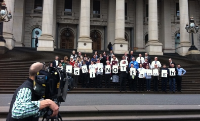 1. Melbourne Parliament protest 5% is not enough