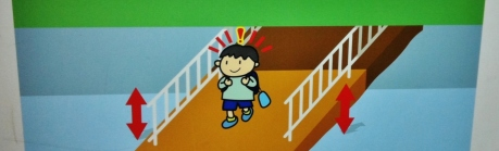 Boy on bridge hit head