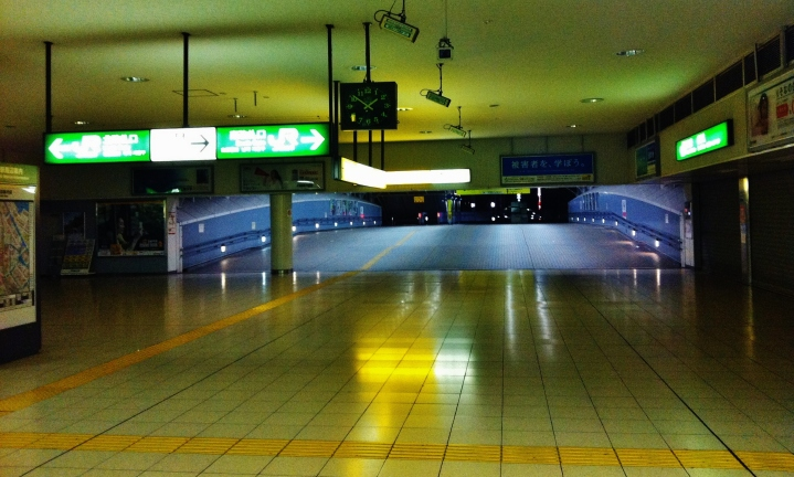 Tamachi Station empty at night