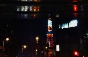 Tokyo Tower, as seen the from the streets of Roppongi.
