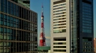 A view of Tokyo Tower, with Mt. Fuji in the background.