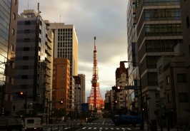 28. Tokyo Tower early morning sunshine