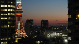 32. Tokyo Tower dusk close-up