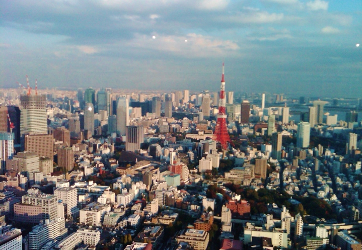 Tokyo Tower, as seen from Tokyo Midtown Tower.