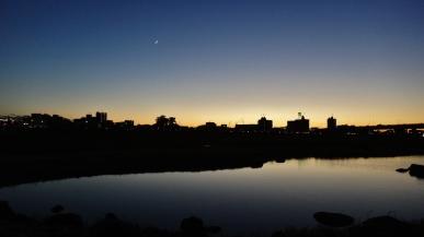 17. Futako Tamagaw dusk moon