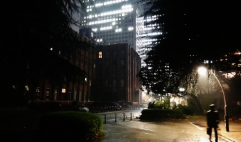 20. Hibiya park man lamppost