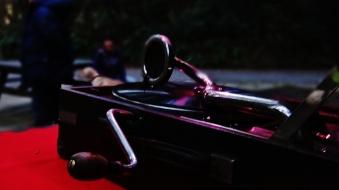 5. Old phonograph at dusk