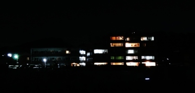 7. Building at night dark lights