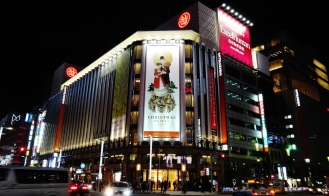 Ginza crossing Christmas