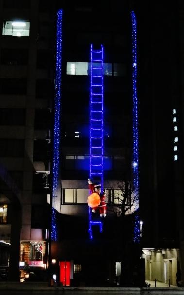 Ginza santa clauss ladder