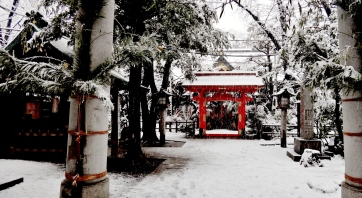 4 - Atago shrine snow day