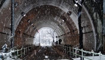 5 - Atago tunnel snow day Tokyo