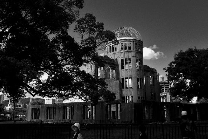 Hiroshima dome black and white B&W
