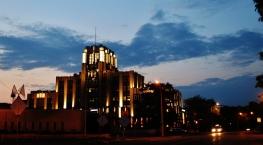 Niagara Mohawk Building dusk far