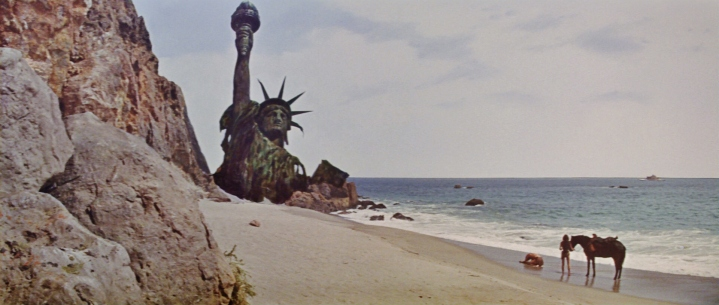 "The classic Statue of Liberty scene from ""Planet of the Apes"""