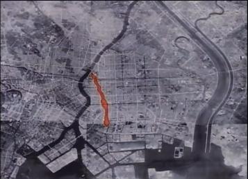 Tokyo firebomb damage map 1