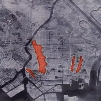 Tokyo firebomb damage map 2