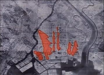 Tokyo firebomb damage map 3