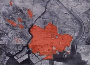 Tokyo firebomb damage map 5