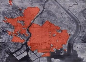 Tokyo firebomb damage map 7