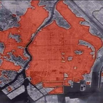 Tokyo firebomb damage map 8