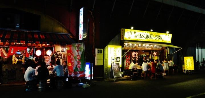 Shimbashi outdoor bars