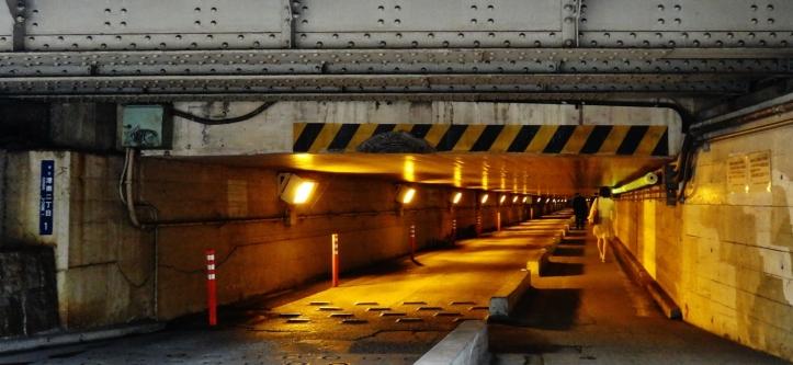 Shinagawa tunnel girl walking