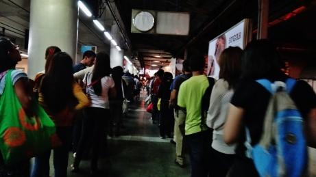 Ayala MRT Friday night crowd