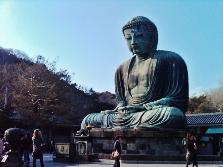 Daibutsu, the Great Buddha of Kamakura, in 2012.