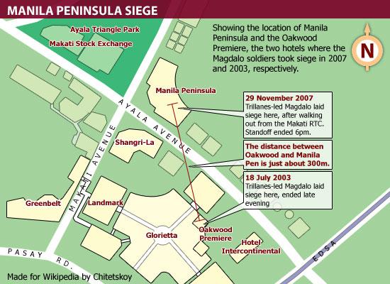 Makati hotel siege map