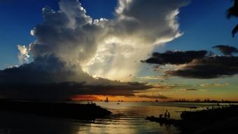 Manila bay sunset clouds