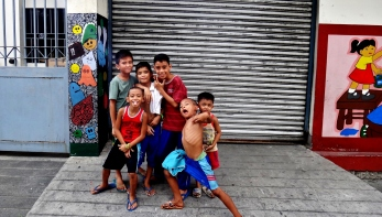 Manila children are the future - kids posing