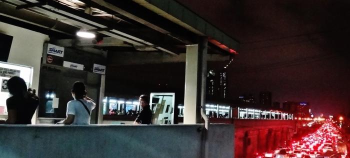 Manila girl staring night
