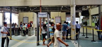 Manila subway metal detector