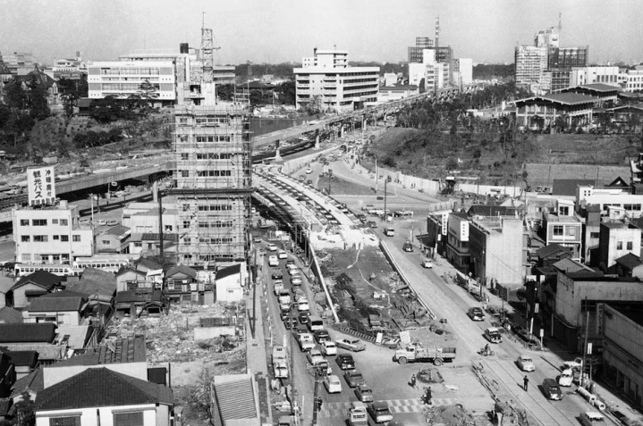 Akasaka Mitsuka Tokyo highway construction 1963