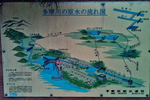 Hamura diversion wier dam map diagram